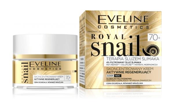 Eveline Royal Snail Krem aktywnie regenerujący 70+ dzień/noc 50 ml