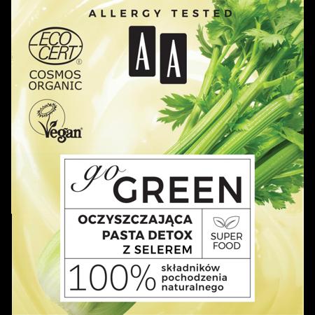 AA GO GREEN oczyszczająca pasta detox z selerem ORGANIC
